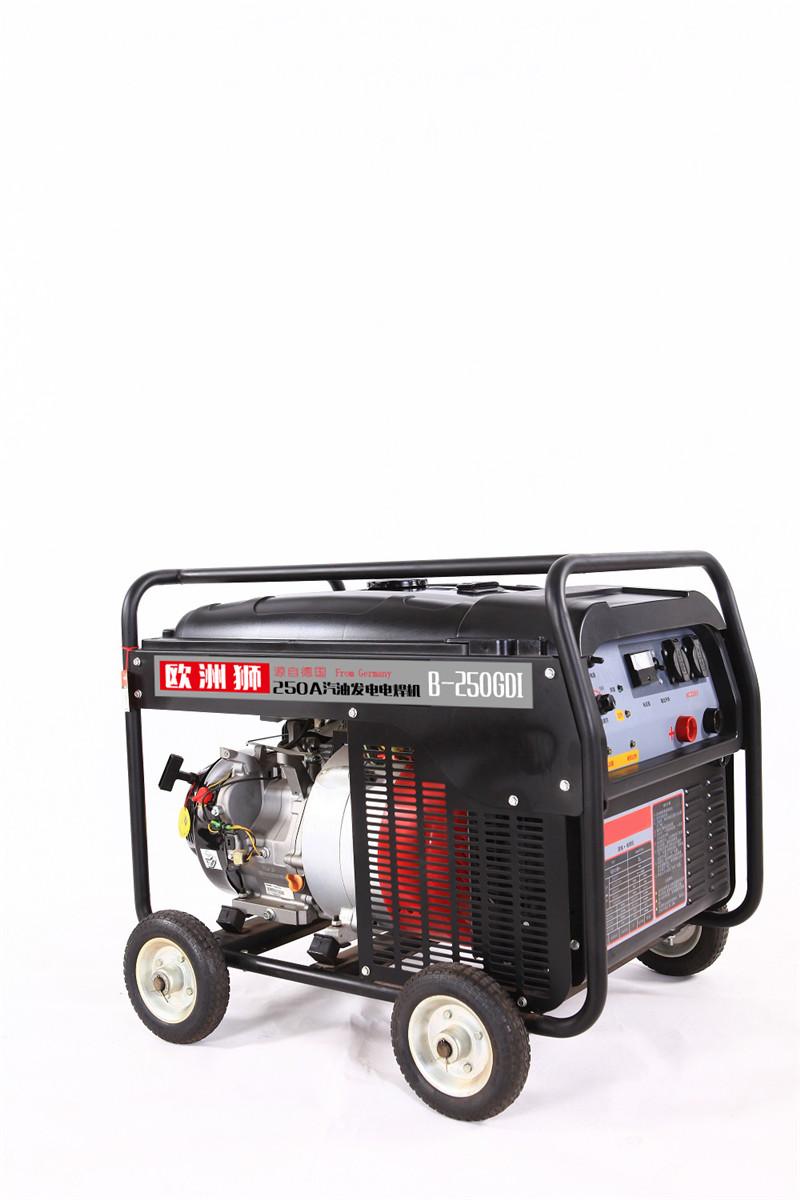 带轮子300A汽油发电电焊两用机