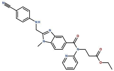 3-[[[2-[[(4-氰基苯基)氨基]甲基]-1-甲基-1H-苯并咪唑-5-基]羰基]吡啶-2-基氨基]丙酸乙酯