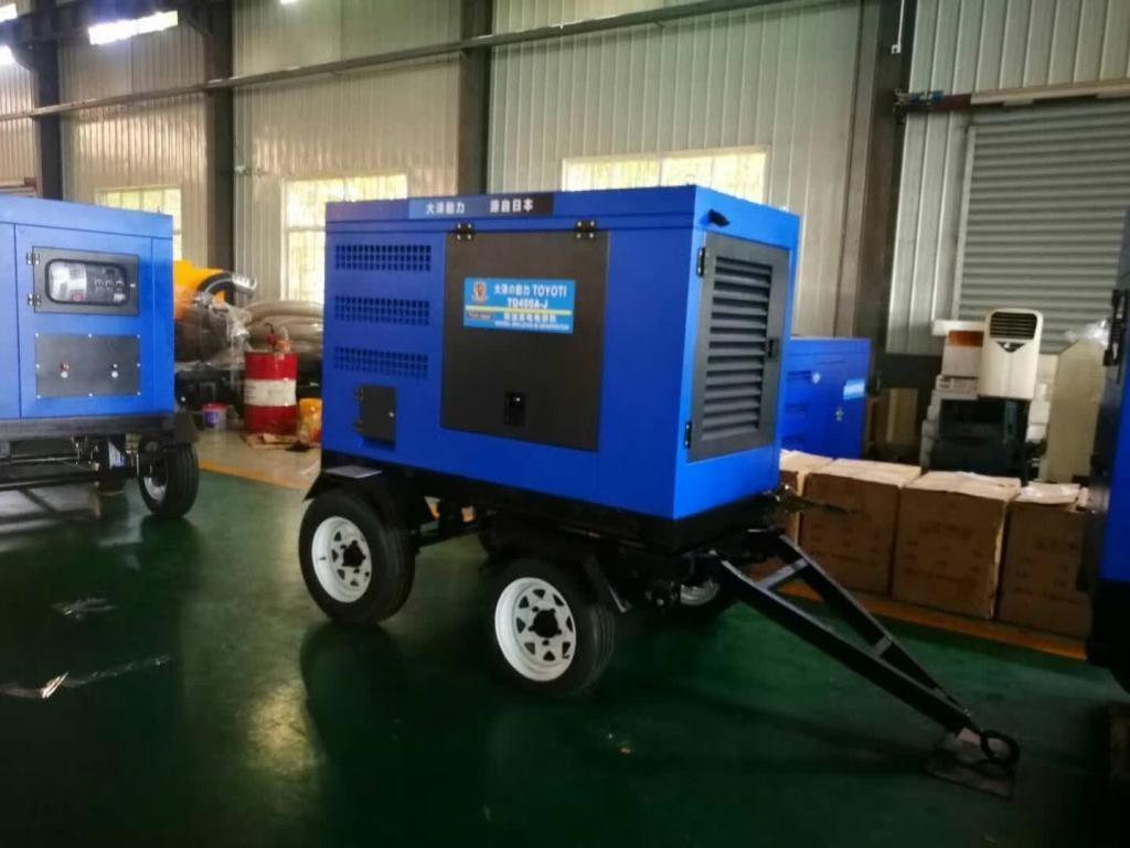 500A柴油发电焊机可带拖车