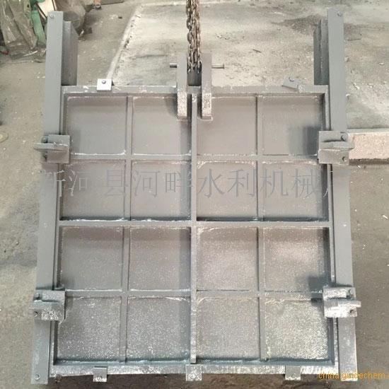 韶关1.0*0.6米机闸一体式铸铁闸门配套1T侧摇式启闭机