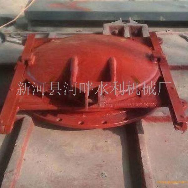 杭州SYZ-800双向受压靠壁式铸铁镶铜圆闸门