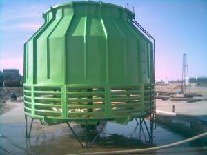 北京平谷圆形逆流式玻璃钢冷却塔