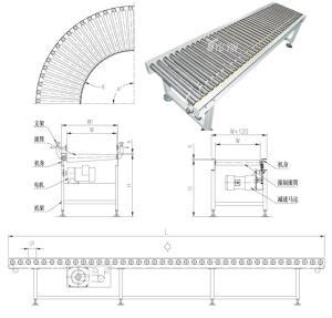 无动力镀锌滚筒线铝型材 倾斜输送滚筒 汇科