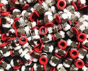 衢州气动接头涂胶加工厂 液压接头点胶加工  义乌气动接头防松胶 螺丝涂胶
