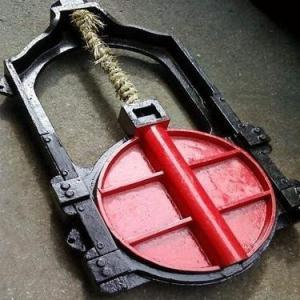 铸铁圆型镶铜闸门使用说明