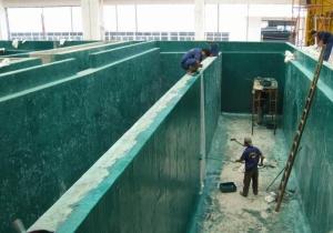 耐酸碱 耐腐蚀 污水池内壁玻璃鳞片涂料 垃圾池树脂玻璃鳞片面涂