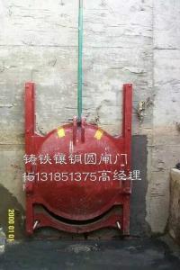 DN1400mm电动附壁式铸铁镶铜圆闸门(双向承压)