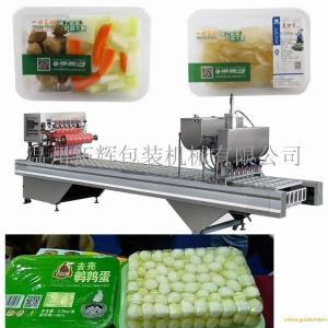 拓輝非標定制-盒裝面線蝦氣調包裝封口機-原廠直銷