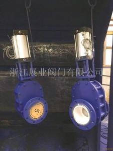 Z644TC耐磨氣動陶瓷雙閘板閥