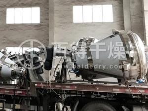 电解铜粉单锥干燥机工作原理