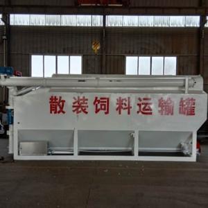 青島液壓式9噸15方散裝飼料罐車廠家保證飼料新鮮輸送
