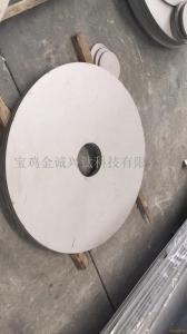 TA2TA9TA10锻造钛法兰 钛管板 钛管道