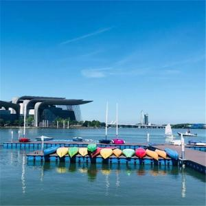 水上游艇泊位码头 拼接塑料浮块码头批发