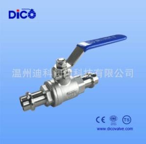 迪科二片式雙頭卡壓球閥 卡壓式水處理球閥 CF8M材質達標閥門