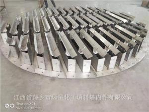 山西150万吨焦化项目槽盘式液体分布器规格GL-28S不锈钢S31603气液分布器 产品图片
