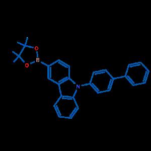 9-([1,1'-联苯]-4-基)-3-(4,4,5,5-四甲基-1,3,2-二氧硼杂环戊烷-2-基)-9H-咔唑