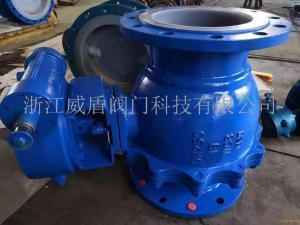 Q341F46鑄鋼耐腐蝕渦輪襯氟球閥