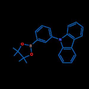 9-(3-(4,4,5,5-四甲基-1,3,2-二氧杂硼杂环戊烷-2-基)苯基)-9H-咔唑