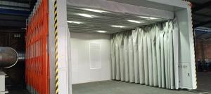 泰州伸缩式喷漆房 专业解决喷漆废气处理 价格优品质高